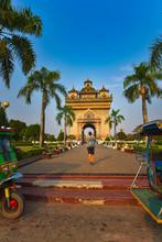 Patuxai Monument Vientiane Lao...
