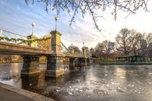 Boston Public Garden Bridge In...