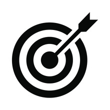 Target Arrow Icon Flat Vector ...