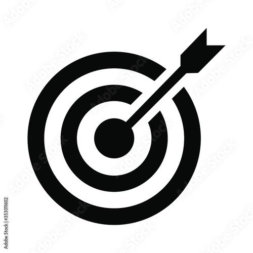 Target arrow icon flat vector illustration design. Canvas Print