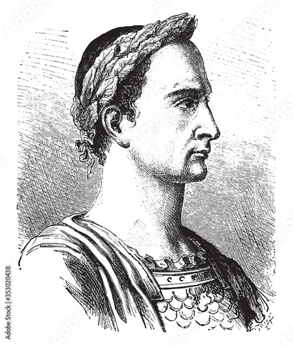 Fototapeta Julius Caesar. vintage illustration.
