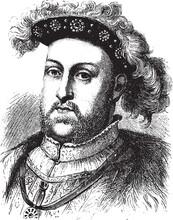Henry VIII Of England, Vintage...