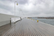 Sopot pier in a cloudy, rainy day
