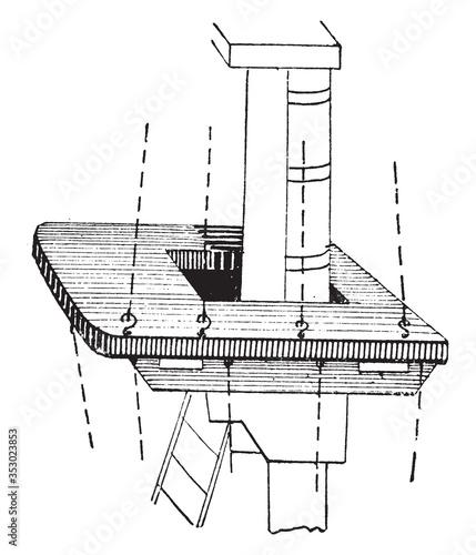 Fotografie, Tablou Top (sailing ship), vintage illustration.