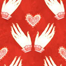 Seamless Pattern Love Alchemy ...