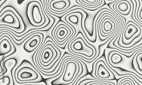 Papel de parede Black and white Damascus steel knife material pattern use for background and wallpaper