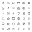 Vector line icons collection of electronics.
