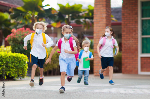 Tela Kids on first school day after quarantine.
