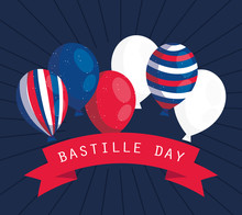 France Balloons With Ribbon Of...