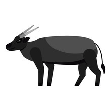 Vector Illustration Of A  Anoa An Endemic Animal From Sulawesi Indonesia