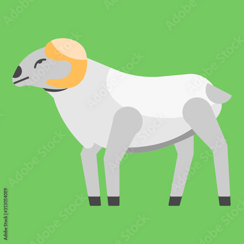 vector illustration of a arrowroot sheep or domba garut from indonesia Canvas Print