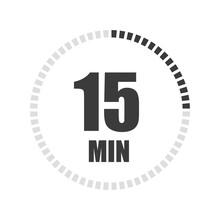 Timer Sign 15 Min. Vector