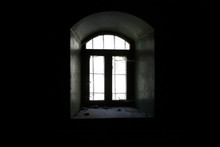 View Of Window Of Abandoned Bu...