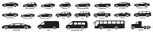 Car Types Set. Vector Illustra...