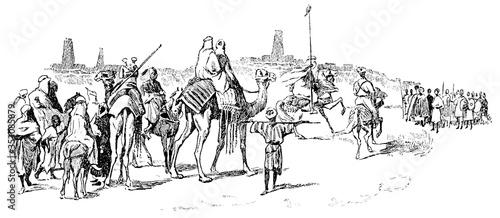 Fotografie, Obraz Heinrich Barth approaching Timbuktu on September 7th 1853