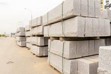 Stacks Of Grey Concrete Blocks...