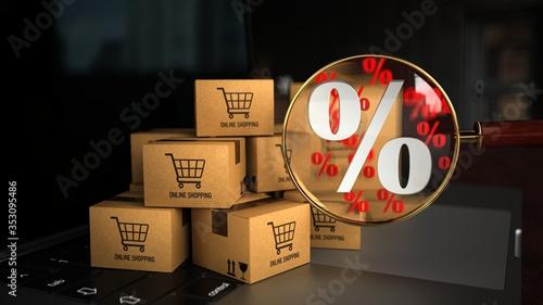 Obraz Discount Online Shopping - fototapety do salonu