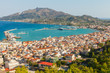 Landscape of Zakynthos island with main harbour