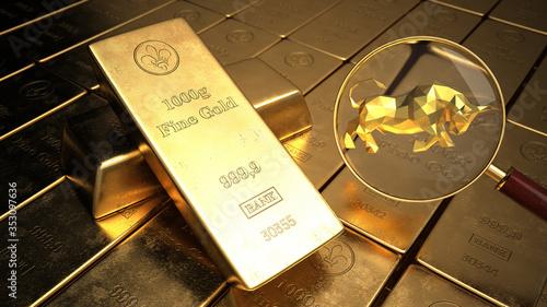 Obraz Bullish Gold Market - fototapety do salonu