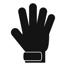 Soccer Goalkeeper Glove Icon. ...