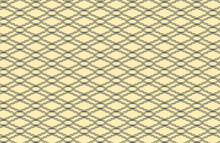 Simple Crossing Diagonal Black Outline Pattern From Shapes Makes A Diamond Pattern, Vector Illustration On A Pale Cream Color Background