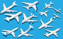 Isometric Six Airplane Set. Je...