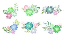 Floral Arrangements With Succu...
