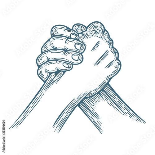 Obraz na plátně Arm wrestling