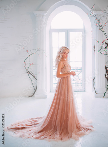 Vászonkép beautiful elegant blond woman princess standing