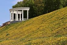 A Rotunda On A Hillside Strew...