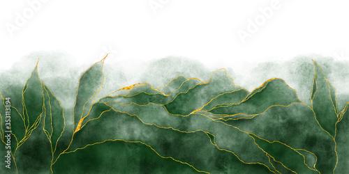 Valokuvatapetti Watercolor background drawn by brush
