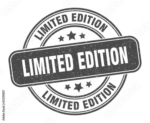 Fotografía limited edition stamp. limited edition label. round grunge sign
