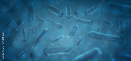Stampa su Tela Probiotics Bacteria Vector illustration