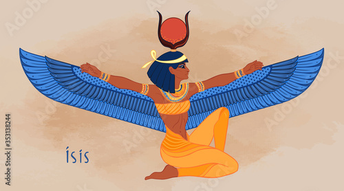 Isis, goddess of life and magic in Egyptian mythology Tableau sur Toile