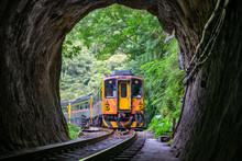 Train With Tunnel Of Pingxi Li...