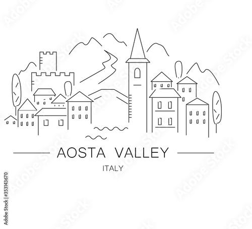 Photo Aosta valley, valle d'aosta illustration.