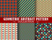 Seamless Set Of Geometric Patt...
