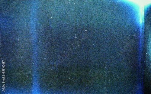 Noisy blue film frame with scratches, dust and grain Tapéta, Fotótapéta