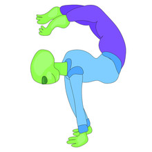 UFO Day. The Alien Does Yoga. Yoga For Everyone