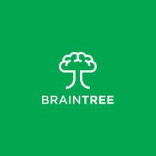 Brain Tree Logo. Brain Icon