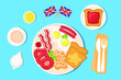 set elements english breakfast