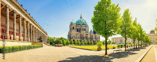 Leinwand Poster panoramic view at the berlin cathedral