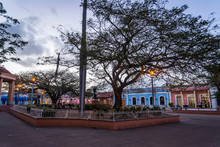 Central Square At Dusk In A We...