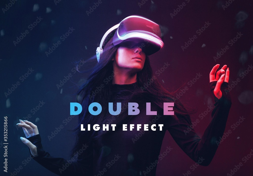 Fototapeta Double Light Photo Effect Mockup
