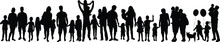Black Silhouette Of Family On ...