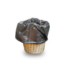 Bin Isolated On White Background With Clipping Path.