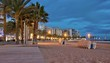 Twilight at Salou beach, in southern Spain