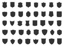 Police Badge Shape. 40 Icons V...