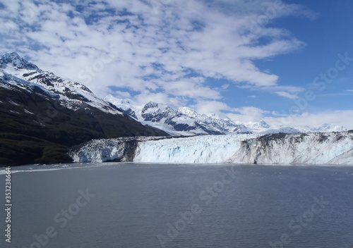Fototapety, obrazy: Alaskan glacier canal mountains ice and snow on a sunny blue sky day spring 2018