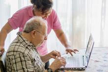 Senior Man And His Caregiver W...